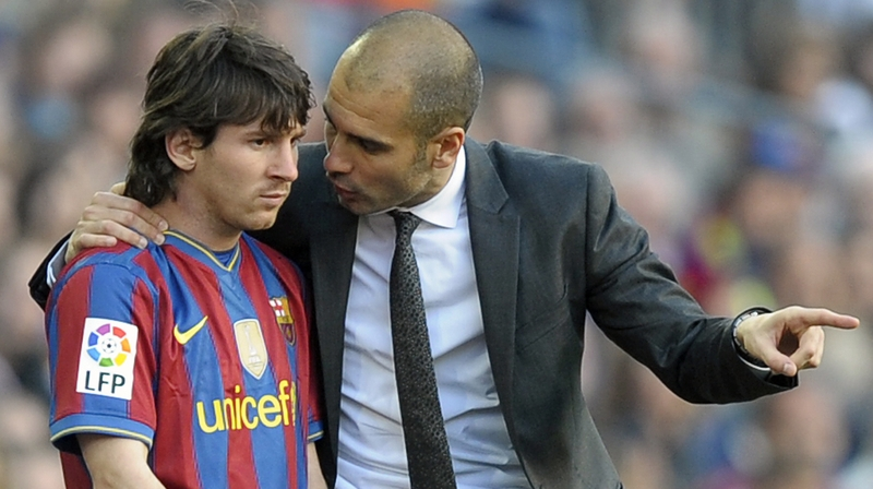 messi and guardiola